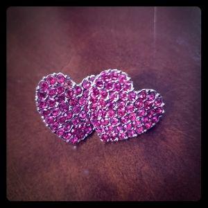 Betsey Johnson heart post earrings